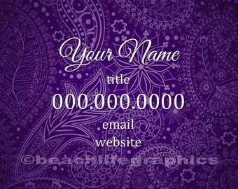 Purple Paisley Business Card