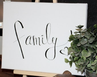 """Hand Scripted """"family"""" Wall Decor"""