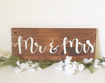 Mr. And Mrs. Wedding sign wood sign wooden sign rustic wedding sign rustic wedding decor wedding decorations table decoration photo prop