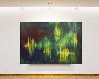 Abstraktes Großes Ölbild, Wand Deko, Oil Painting, Einzigartige  Geschenkidee Künstler Birgithell