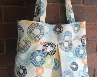 Colourful circles tote bag