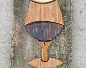 Rustic Wine Glass sign 10 x 20