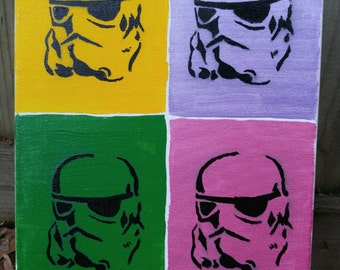14x11  Pop Art Stormtrooper Acrylic FREE SHIPPING!