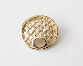 Vintage Sarah Coventry 1960s Basket Weave Brooch Pin