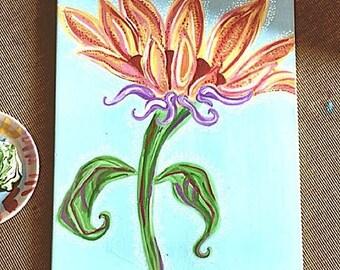 Custom Painted Sunflower