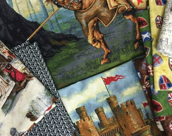 Through the Ages Knights Game of Thrones Inspired Camelot Fabric Bundle Kit - 100 Percent Cotton Kit - One of A Kind!