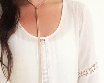 Wrap around suede necklace | jori |