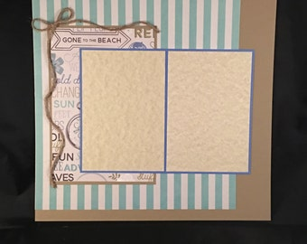 Premade Scrapbook Page 12x12 Gone To The Beach