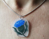 Scottish Thistle - Pendant with Necklace