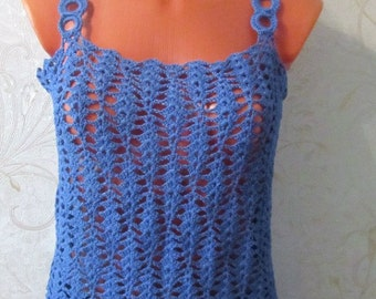 knitted top , summer top, top,  crocheted top