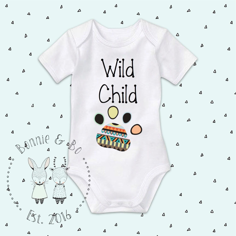 Wild Child Baby Clothes boho baby bohemian baby Baby Gift