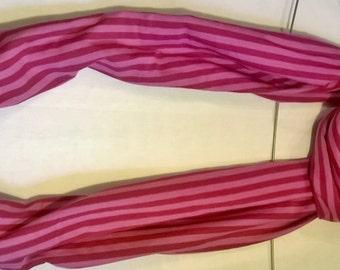 8 striped organic cotton scarf