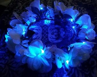 Ethereal Blue LED flower crown