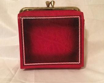 Vintage Princess Gardner Red Leather Wallet