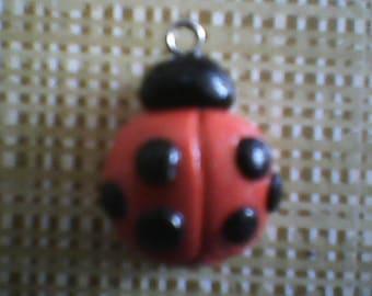 Polymer Clay Ladybug Pendant Charm
