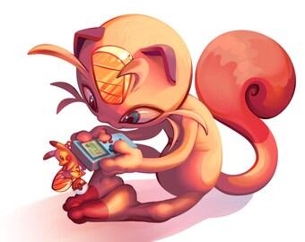 Pokemon - Meowth 5x5 Print