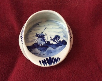 Delft Blue and White Dutch Hat Tray