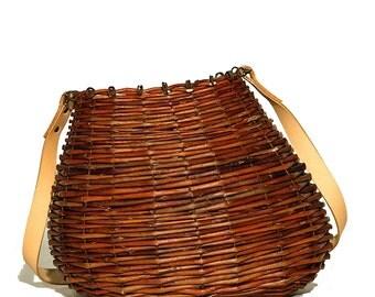Bag shoulder wicker basket