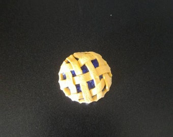 Blueberry Pie Magnets