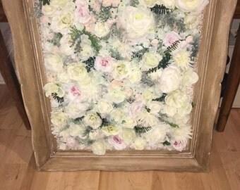Eisley Ornate Vintage Light Wood Floral Wall Frame