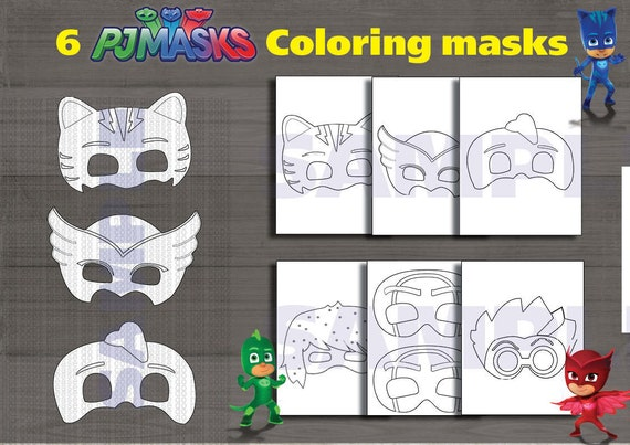 Comprehensive image in pj masks mask printable