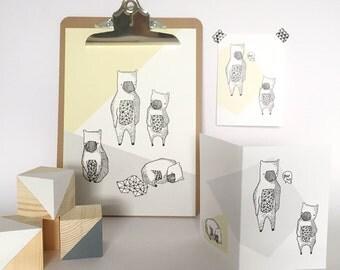 Bear Cub Nursery Print