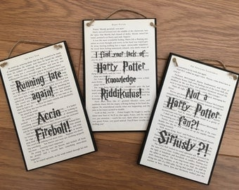 Harry Potter Inspired Wall Plaques
