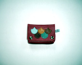 wallet/card holder leather raspberry