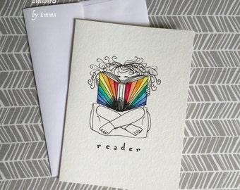 Original Watercolor Painting: Reader! Greeting Card
