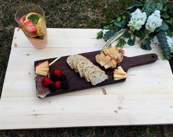 Walnut Cheese Board with Brass Inlay