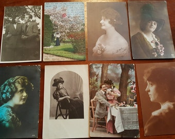 Antique old vintage Postcards from 1900-1940s 1.