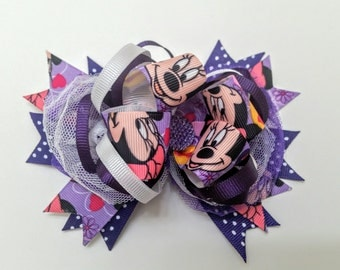 Med Combination Bow/ Purple Minnie Mouse