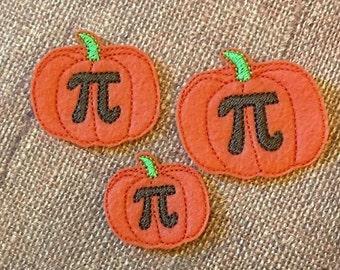 Pumpkin Pi Feltie Embroidery Design