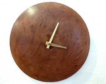 Wall Clock - Redwood Burl