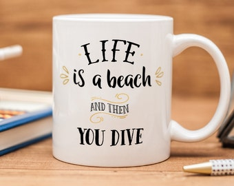 Diver mug, great present for diving persons birthday