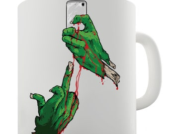 Zombie Hands Selfie Ceramic Mug