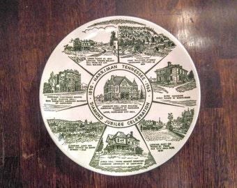 Vintage Ceramic Plate - Harriman, Tennessee Diamond Jubilee Celebration 1890 - 1965