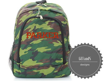 Personalized Camo Green Army Fatigue backpack