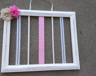 rustic hairbow holder
