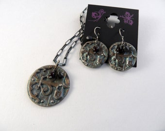 Fairy Gate Necklace and Earrings