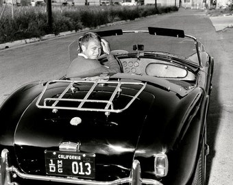 Legendary Actor Steve McQueen in His Shelby Cobra 289 Roadster - 8X10 Photo (ZZ-363)