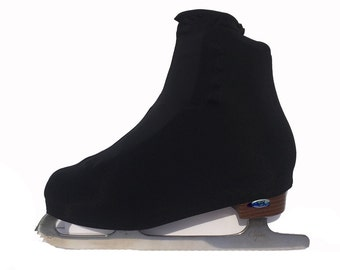 Black Lycra Skate Boot Covers - Adult Size