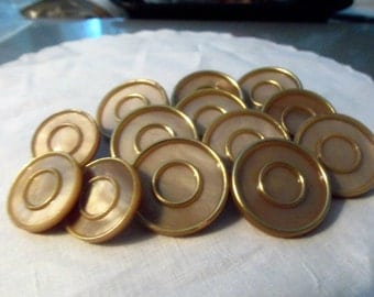 Large Lot of  Vintage Plastic Buttons  Metal Shanks