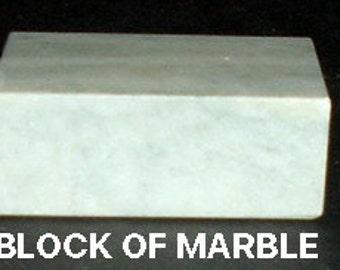 Miniature BLOCK OF MARBLE w/ Beveled Edge
