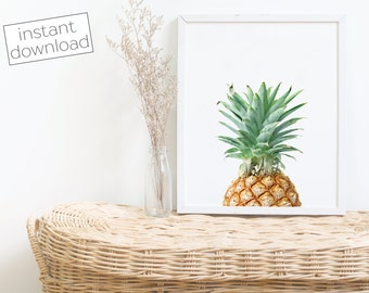 Pineapple Print - Pineapple Wall Art - Pineapple Wall Decor - Kitchen Art - Kitchen Wall Decor - Colorful Pineapple - Instant Download