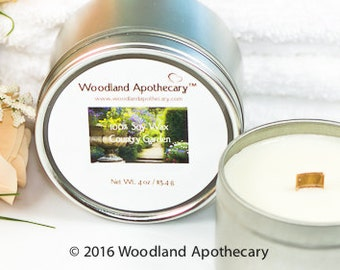 100% Soy Wax Candle - Country Gardens