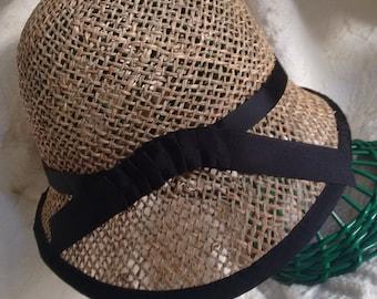 Florentine straw, style cloche Hat