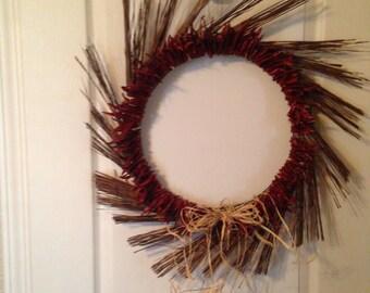 Rustic Chile Sun Wreath