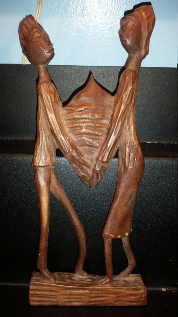 African hand carved wood sculpture