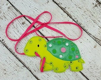 Summer Sale Turtle Lacing Card